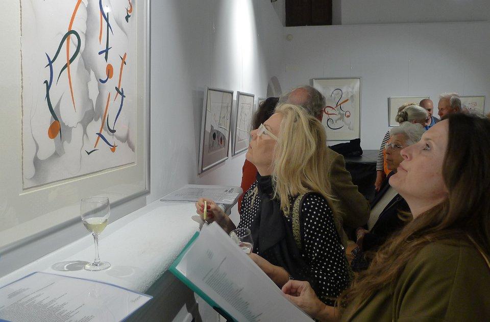 "Opening Night: ""Pensando en Miró: Drawings in Silver"", Sa Tafona Gallery (Image courtesy of Martin Adam, photographer)"