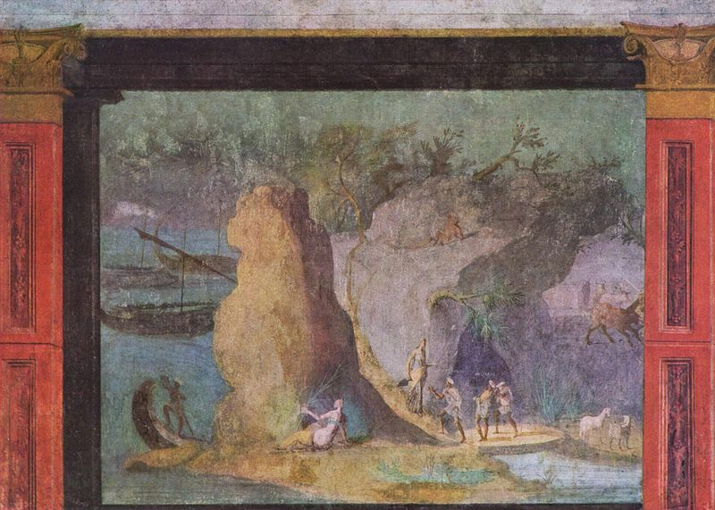 Landscape witha scenefrom the Odyssey, Rome, c. 60-40 BC