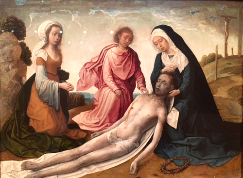 The Lamentation, Juan de Flandes, active in Spain 1496-1519, Thyssen Museum, Madrid