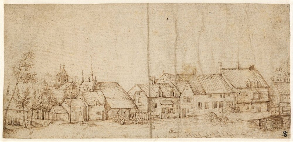 Master of the Small Landscapes - Village View, published 1559-1561