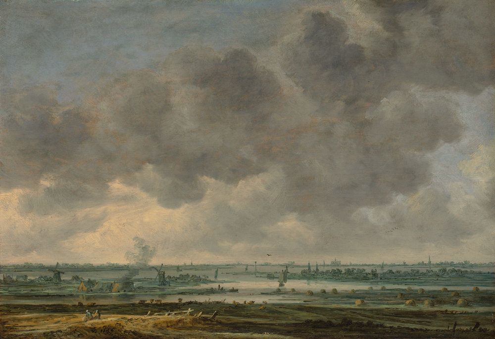 View of Haarlem and the Haaarlemmer Meer, 1646,  oil on wood, Jan van Goyen , Dutch,  Metropolitan Museum, New York