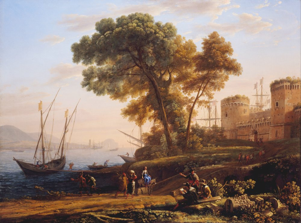 An Artist Studying from Nature (1639), Claude Lorrain, Cincinnati Art Museum