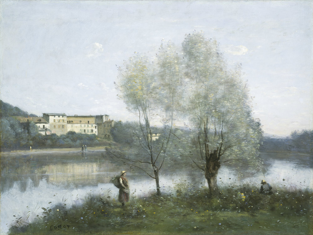 Ville dAvray, ca. 1867, oil on canvas, Jean-Baptiste-Camille Corot,  Washington, D.C. National Gallery of Art