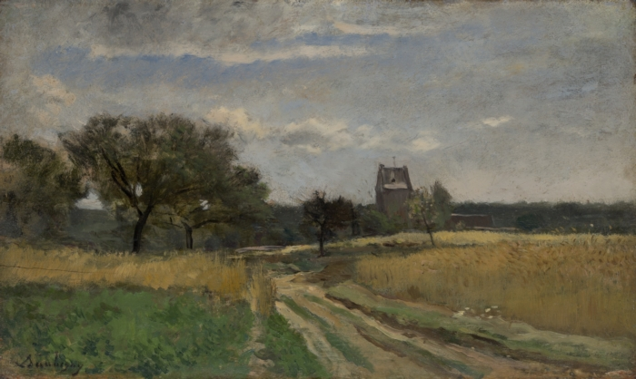 Landscape, 1860-70, oil on panel,  Charles-François Daubigny, Yale University Art Gallery