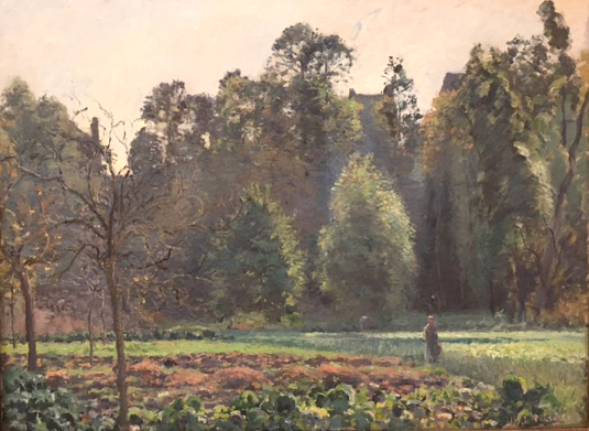 The Cabbage Field, Pontoise, 1875 oil on canvas, Camille Pisarro, Museo Thyssen, Madrid, Collecion CarmenThyssen Bornemisza