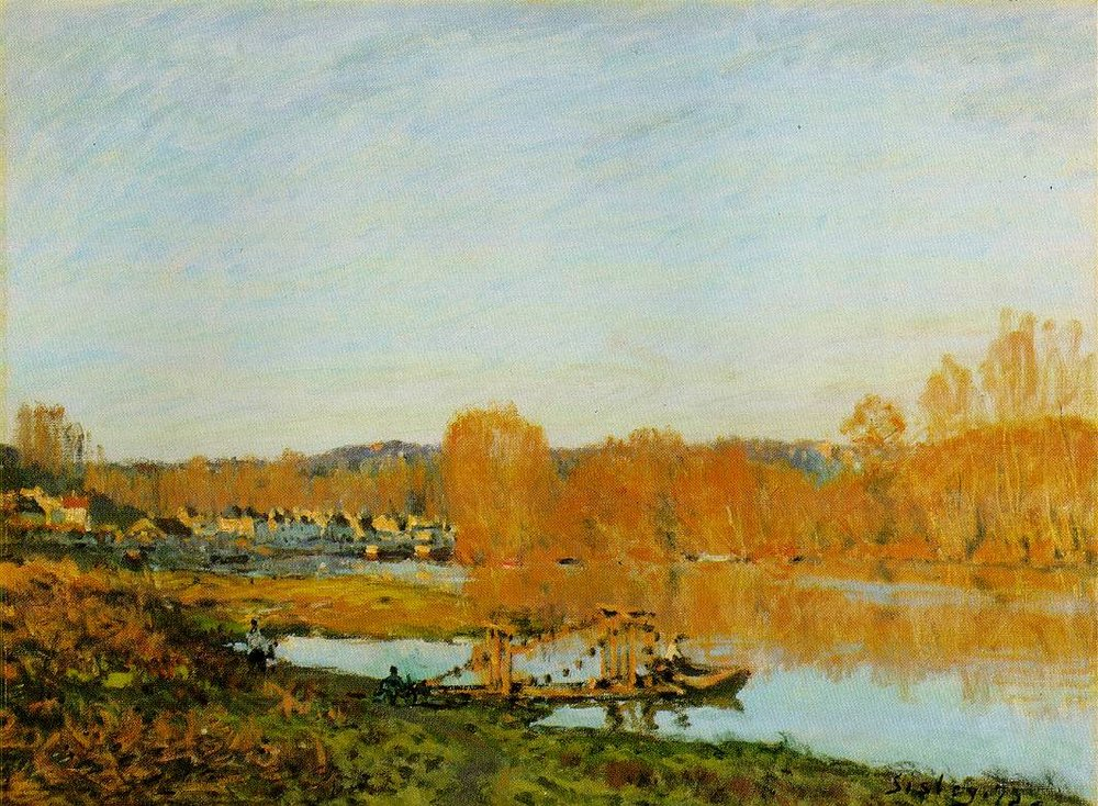 Autumn - Banks of the Seine near Bougival, 1873, oil on canvas, Alfred Sisley, Museum of Fine Arts, Montreal