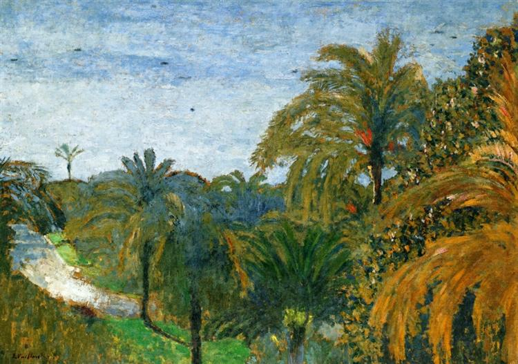 Garden in Cannes, 1901, Edward Vuillard,  private collection