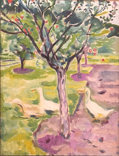 Geese in an Orchard, c.1911, oil on canvas, Edvard Munch, Museo Thyssen, Madrid