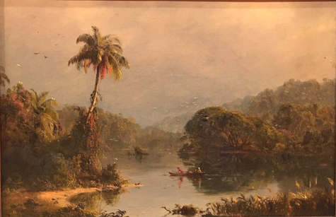 Tropical Landscape, oil n canvas, c. 1855, Frederic Edwin Church, Museo Thyssen, Madrid