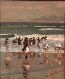 Beach Scene, oil on canvas, 1869, Winslow Homer, Museo Thyssen, Madrid