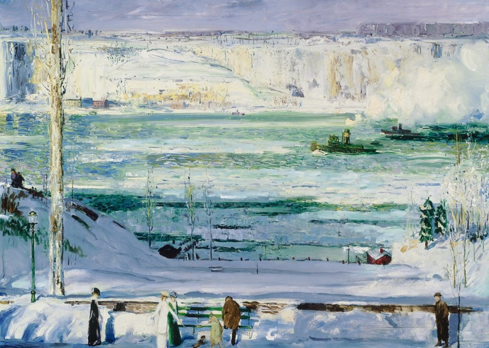A Wintery Scene, George Bellows, oil on canvas, 1911, courtesy of Telfair Museums, Savannah