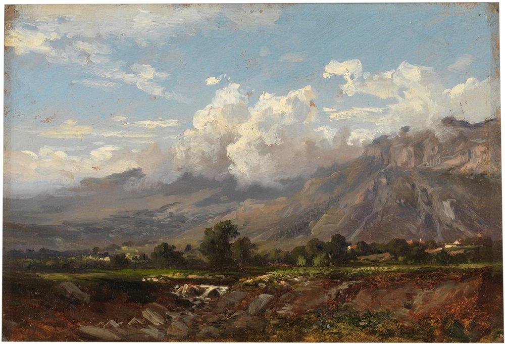 Paisaje de Montana, 1872, Carlos de Haes,, oil on paper, Prado Museum, Madrid