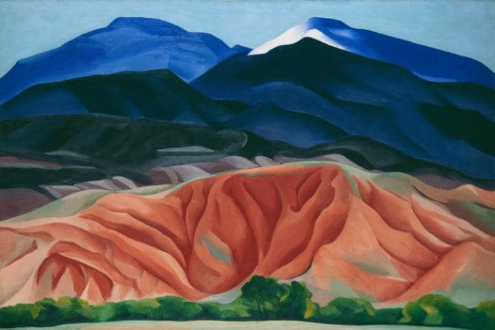 Black Mesa Landscape, New Mexico, Georgia O'Keeffe, 1930,  Georgia O'Keeffe Museum, Gift of The Burnett Foundation