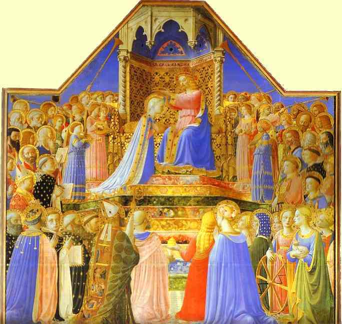 TheCoronation Of The Virgin, Fra Angelico, 1430s, San Marco Museum, Florence