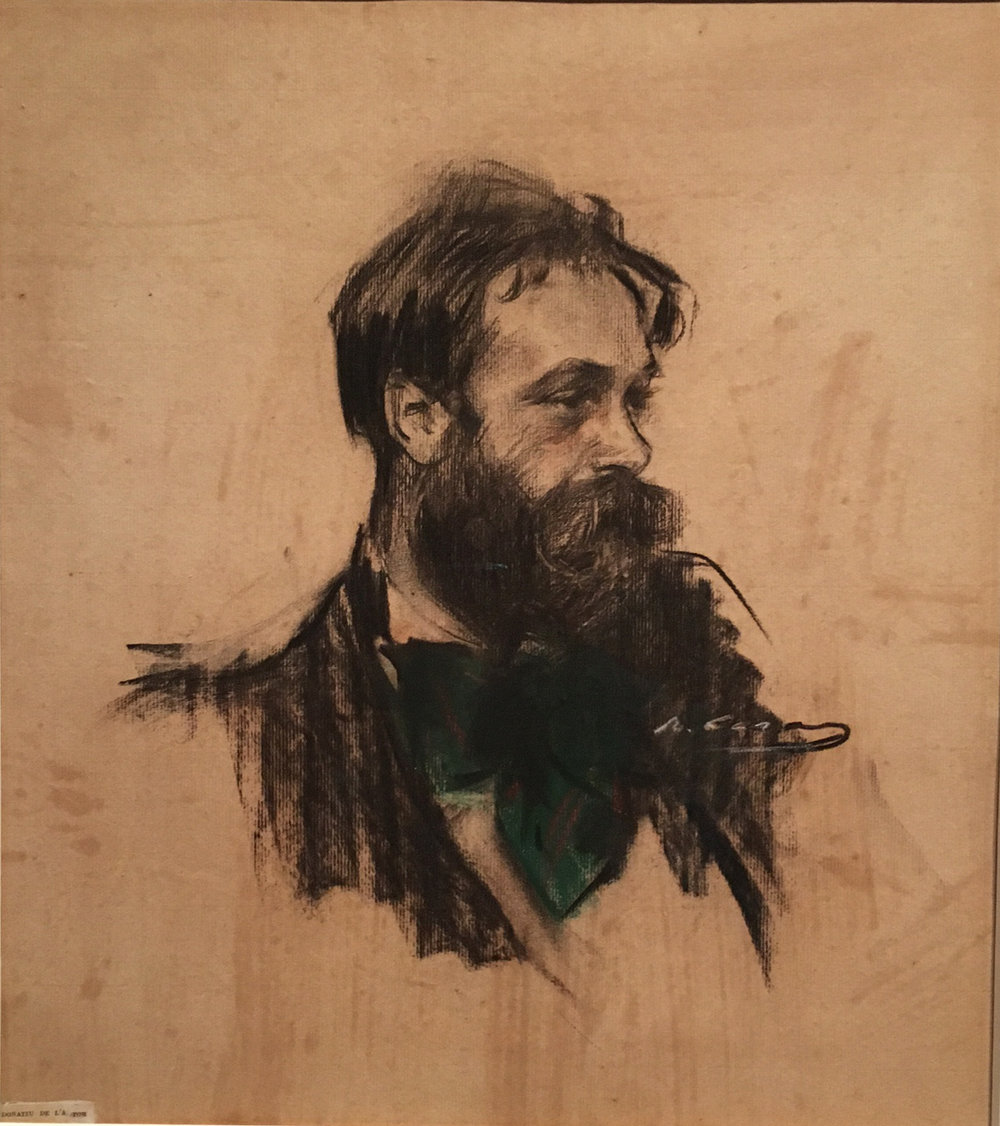 Portrait of Joaquin Mir, charcoal and pastel on paper, c. 1901, Ramon Casas