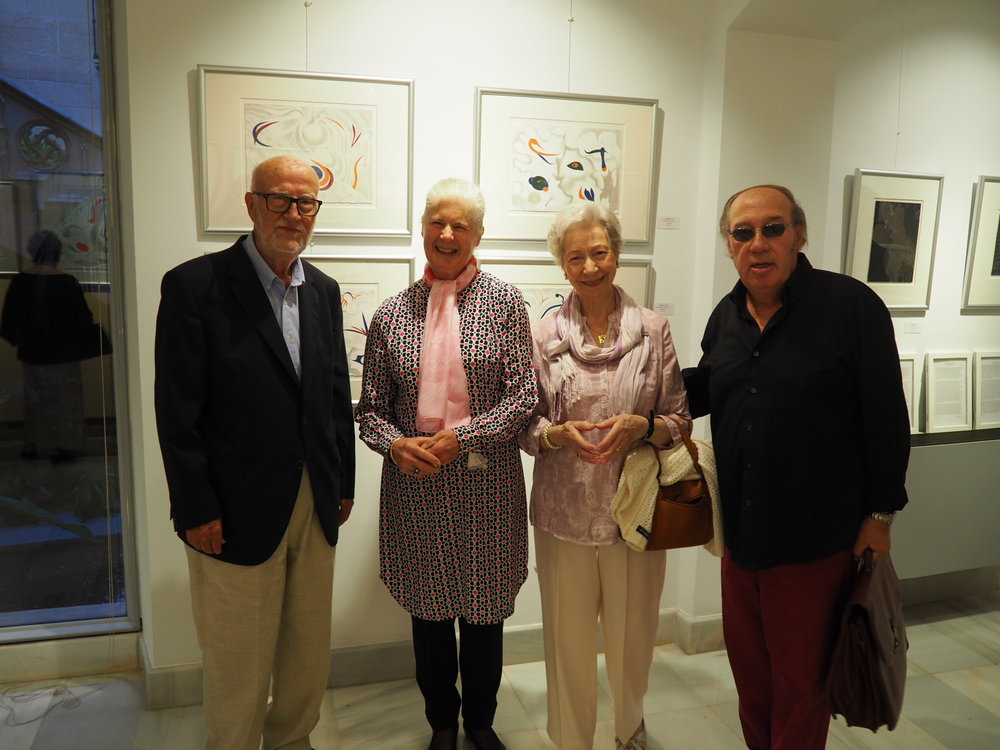 l to r, A Barceló, family member,  artist Mari Vich, Jeannine Cook and art dealer Ricardo Lloret