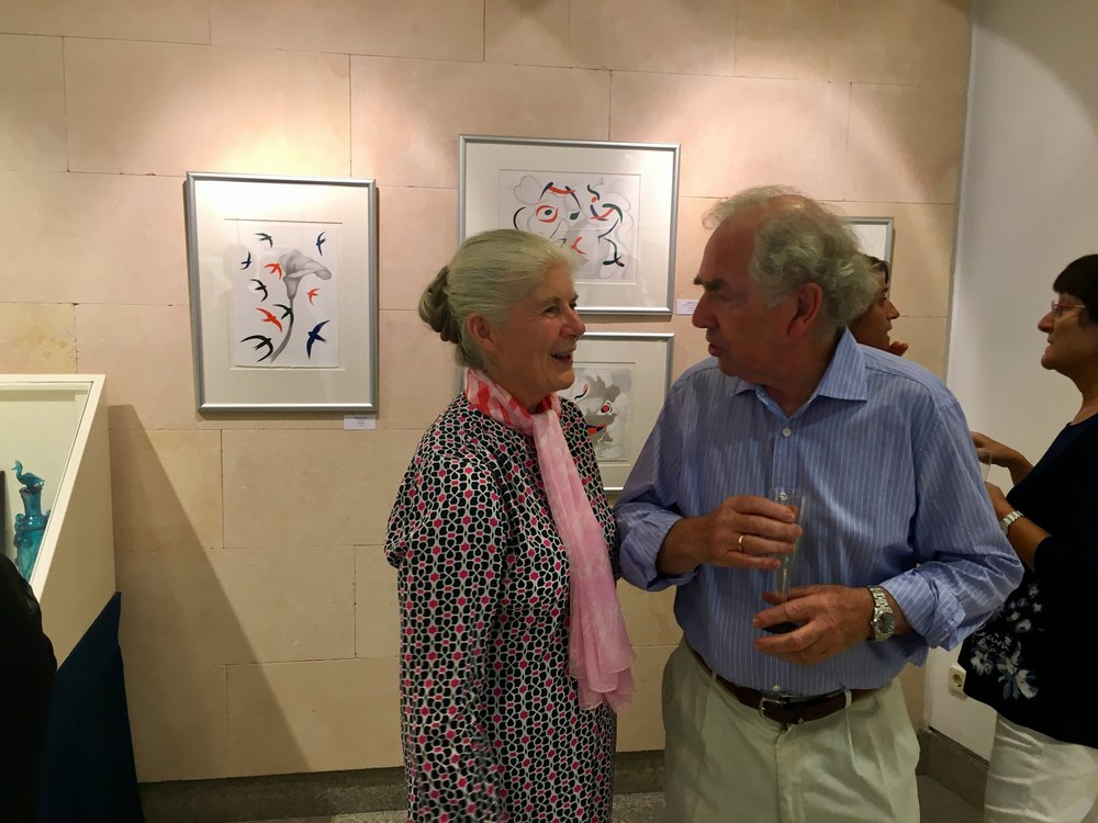 Jeannine Cook with William Graves, son of Robert Graves