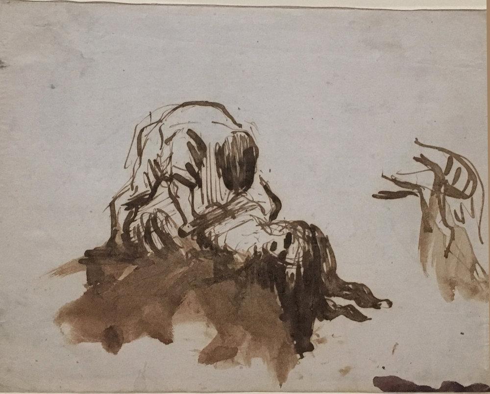 Scenes of Violence, ink on paper, P. Cézanne, 1869-72 , Kunstmuseum Basel