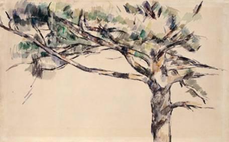 Large Pine Study, c. 1890, P. CCézanne, watercolour, Kunsthaus, Zurich