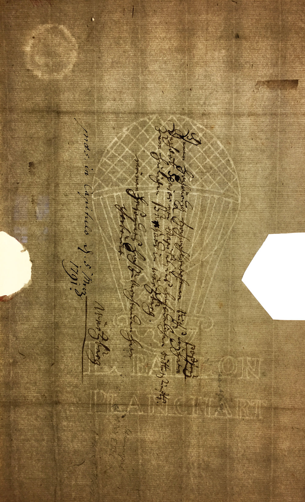 Another example of historic water-marked paper at the Museum