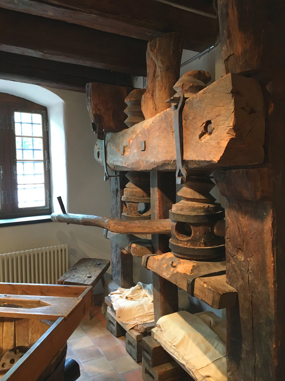 A very early version of paper press at the Museum