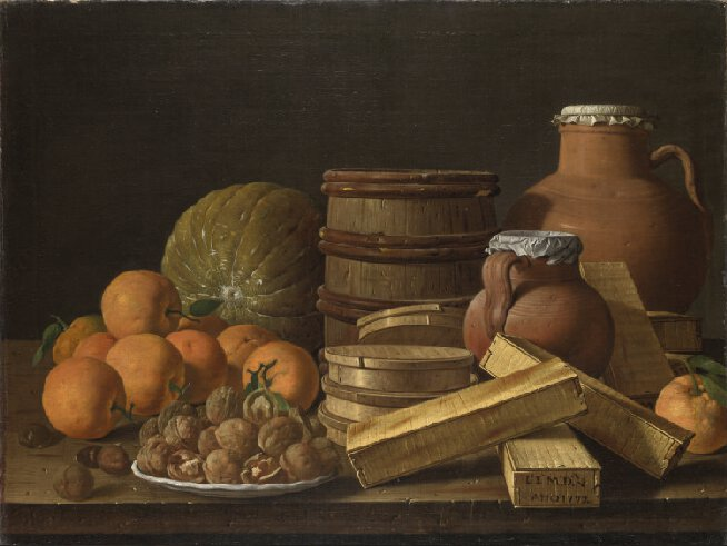 Still Life with Oranges and Walnuts,  1772, Luis Melendez, (Image courtesy of National Gallery, London)