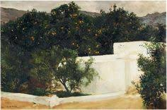 Orange Trees on the Road to Seville , 1903,  Joaquin Sorolla, Private Collection