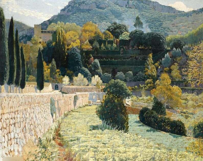 Terraced Garden in Mallorca, Santiago Rusiñol, 1904