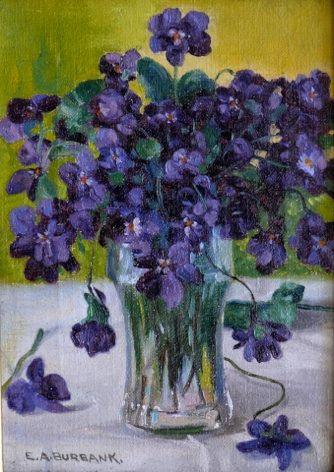 Violets,  c. 1917, Elbridge Ayer Burbank, American, 1858-1949
