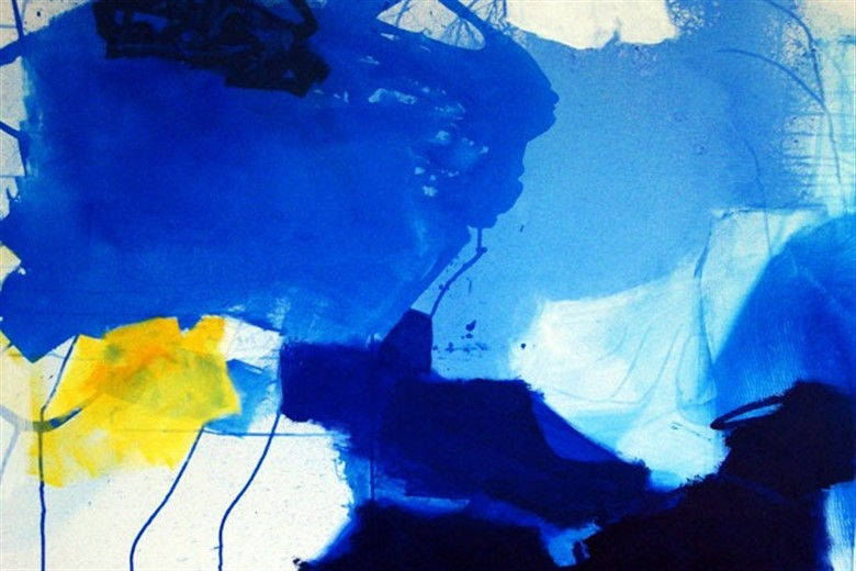 Blue Note,  acrylic, Erdmute Blach (image courtesy of the artist)