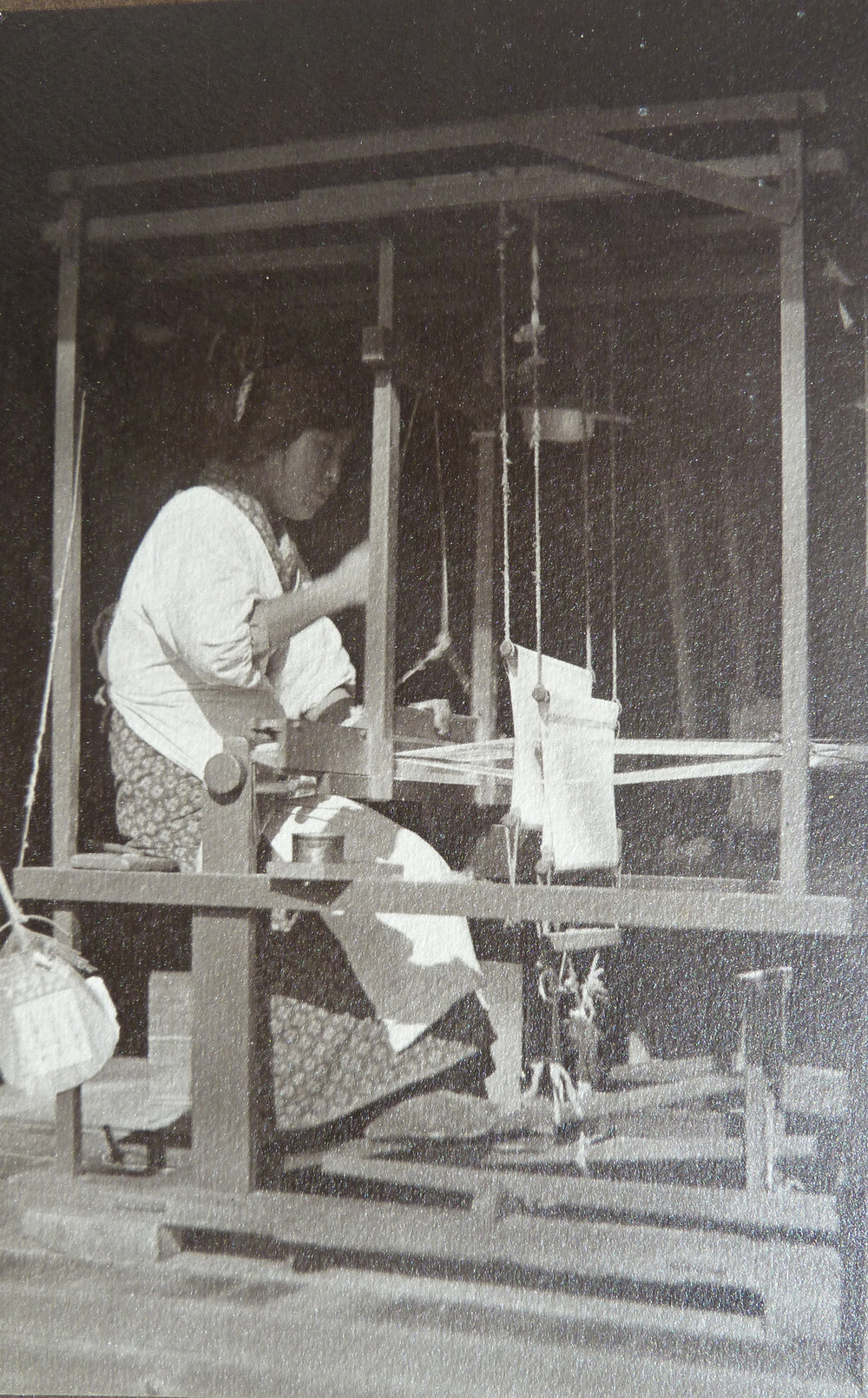 At the Loom, 1923-24, F.J. Anderson photographer