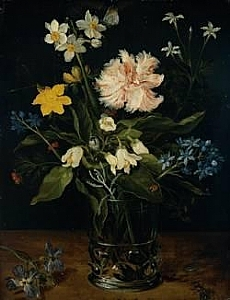 Jan Brueghel I, Still Life, Oil on Copper