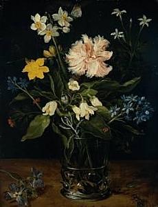 Jan Brueghel I, Still Life, Oil on Copper