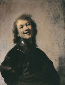 Rembrandt Harmensz. van Rijn (Dutch, 1606–1669) Rembrandt Laughing. Oil on copper, about 1628. 8 3/4 x 6 3/4 in private Collection.