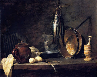 Chardin, Fast-Day Meal, 1731, Musee du Louvre (France) Oil on copper, Height: 33 cm (12.99 in.), Width: 41 cm (16.14 in.)