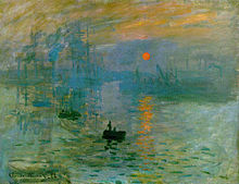 Impression, soleil levant,  1872, C. Monet. Image courtesy of the Musee Marmottan Monet, Paris