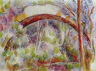 Le Pont Des Trois-sautets , watercolor and pencil,   Paul Cézanne, c. 1906, Cincinnati Art Museum