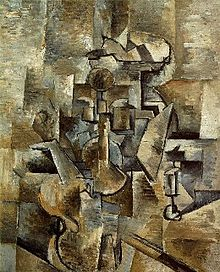 Violin and Candlestick,  Georges Braque, Paris, spring 1920, Museum of Modern Art, San Francisco