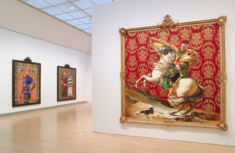 "Exhibition at Brooklyn Museum in New York City, 'A New Republic"", Kehinde Wiley, evoking Napoleon and others"