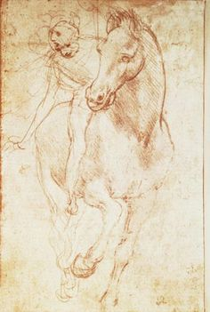 Horse and Rider, Leonardo da Vinci, silverpoint, 1481