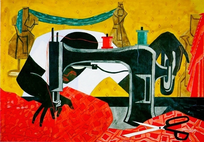 Jacob Lawrence (1917-2000),  The Seamstress,  1946 (Image courtesy of the University of Rochester Memorial Art Gallery)