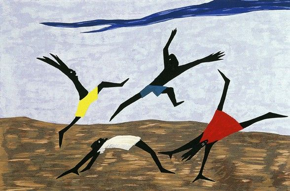 Jacob Lawrence,  Play  (1999); silk screen(Image courtesy of the Lawrence Jacob Estate)