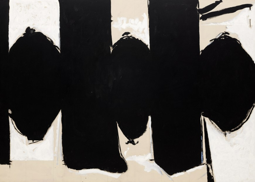 Elegy to the Spanish Republic No. 110,  Robert Motherwell 1971, Acrylic with pencil and charcoal on canvas, (Image courtesy of  Solomon R. Guggenheim Museum)