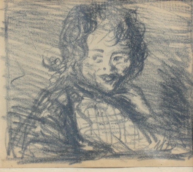 Robert Henri, Pencil Drawing of a Small Child