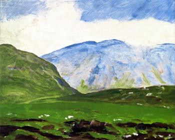 Robert Henri, 1913, Irish Landscape, oil on canvas, Private collecton