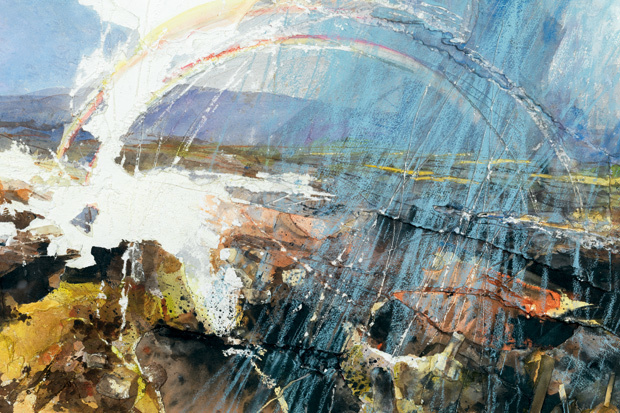 Burn Moor (Double Rainbow) , 2013, collage, impasto, painting and drawing, David Tress