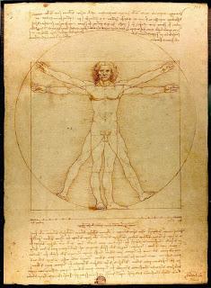 Vitruvian Man  by Leonardo da Vinci, Galleria dell' Accademia, Venice (1485-90)