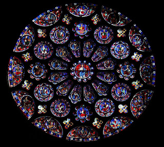 South Rose Window, The Glorification of  Christ, Chartres Cathedral