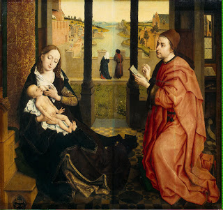 Saint Luke Drawing the Virgin,  c. 1435–40, Rogier van der Weyden (Image courtesy of  The Museum of Fine Arts, Boston)