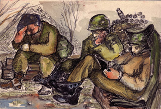 Resting Soldiers,  (Image courtesy of Ghost Army.org)